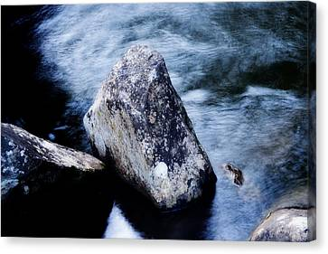 Rocks At The Falls Canvas Print by Adam LeCroy