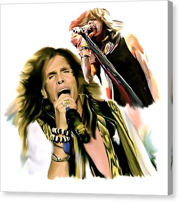 Rocks Gothic Lion II  Steven Tyler Canvas Print by Iconic Images Art Gallery David Pucciarelli