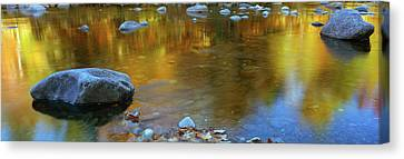 Rocks In A Shallow Stream Canvas Print by Panoramic Images