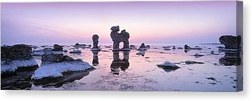 Rocks On The Beach, Faro, Gotland Canvas Print by Panoramic Images