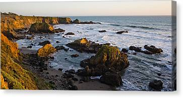 Rocks On The Coast, Cambria, San Luis Canvas Print by Panoramic Images
