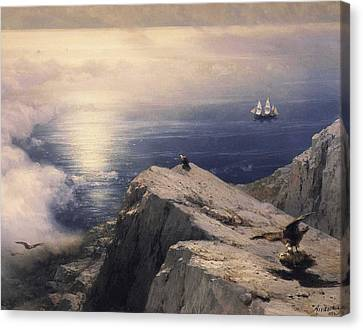 Rocky Coastal Canvas Print by Ivan Konstantinovich Aivazovsky