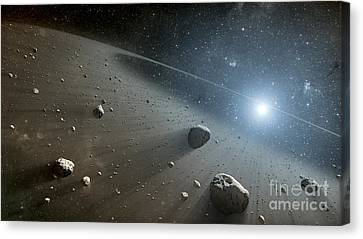 Rocky Debris Around Vega, Artwork Canvas Print by Nasa