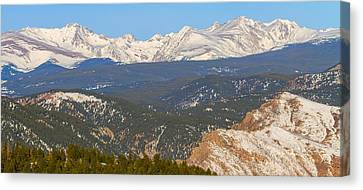 Rocky Mountain Continental Divide Winter Panorama  Canvas Print by James BO  Insogna