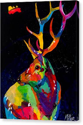 Rocky Mountain Elk Canvas Print by Tracy Miller
