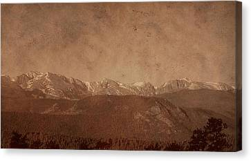 Rocky Mountain National Park In Sepia Canvas Print by Dan Sproul