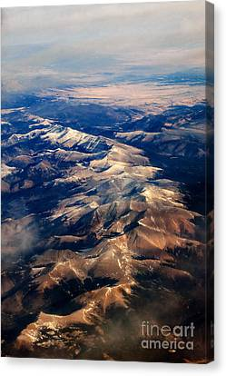 Rocky Mountain Peaks From Above Canvas Print by Darleen Stry
