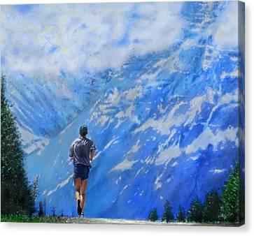Rocky Mountain Run Canvas Print by Edward Pollick