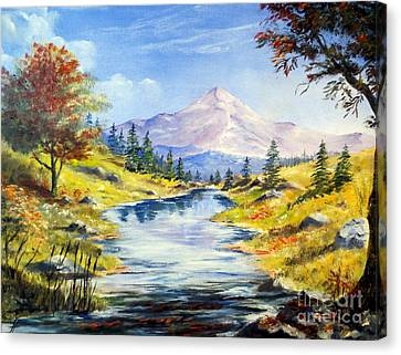 Rocky Mountain Stream Canvas Print by Lee Piper