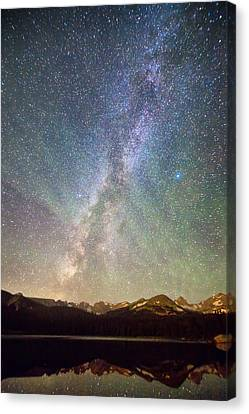 Rocky Mountains Indian Peaks Milky Way Rising Canvas Print by James BO  Insogna