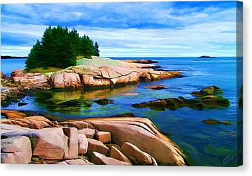 Rocky Point At Great Waas Canvas Print by ABeautifulSky Photography