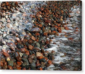 Rocky Shoreline Abstract Canvas Print by James Peterson