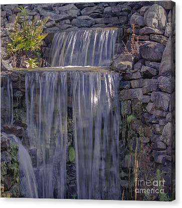 Rocky Waterfall Canvas Print by Michael Waters