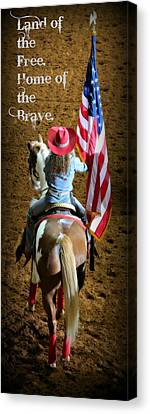 Rodeo America - Land Of The Free Canvas Print by Stephen Stookey
