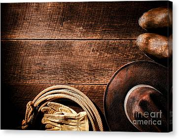Rodeo Background Canvas Print by Olivier Le Queinec