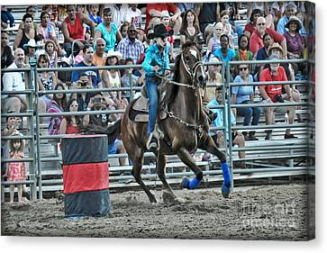 Rodeo Cowgirl Canvas Print by Gary Keesler