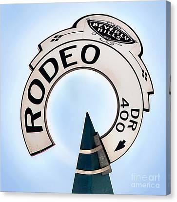 Rodeo Drive Sign Circagraph Canvas Print by Az Jackson