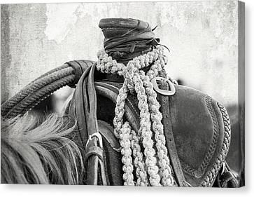 Rodeo Saddle Vintage Canvas Print by Steven Bateson