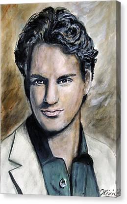 Roger Federer - Portrait Canvas Print by Olivia Gray
