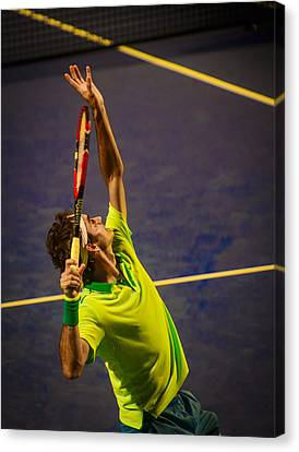 Roger Federer Canvas Print by Bill Cubitt