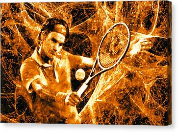 Roger Federer Clay Canvas Print by RochVanh