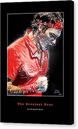 Roger Federer  The Greatest Ever Canvas Print by Joe Paradis