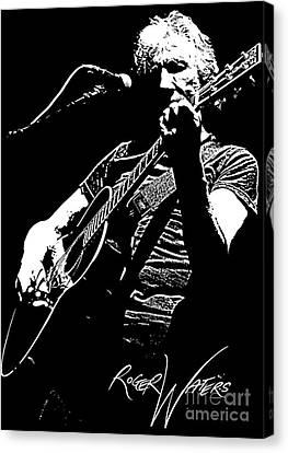 Roger Waters No.01 Canvas Print by Caio Caldas