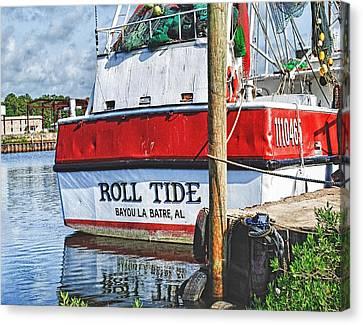 Roll Tide Stern Canvas Print by Michael Thomas