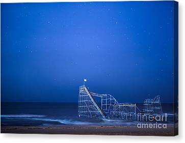 Roller Coaster Stars Canvas Print by Michael Ver Sprill