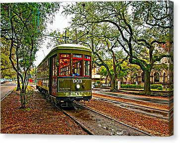 Rollin' Thru New Orleans Painted Canvas Print by Steve Harrington