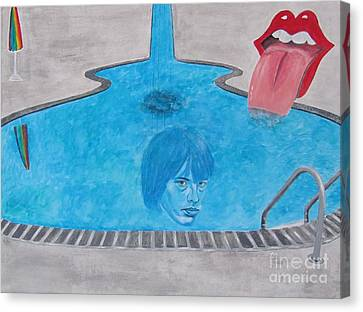 Rolling Stones Brian Jones Canvas Print by Jeepee Aero