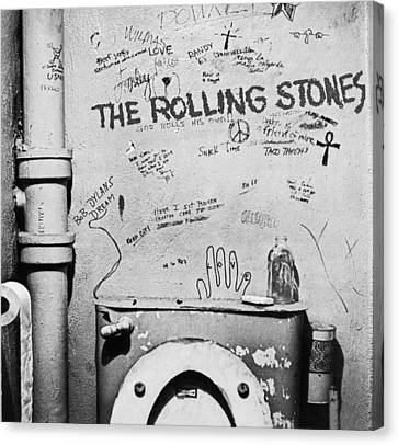 Rolling Stones Canvas Print by Jerry Cordeiro