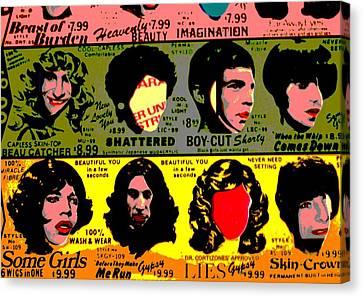 Rolling Stones Pop Art Canvas Print by Dan Sproul