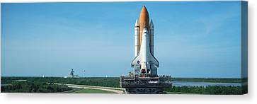 Rollout Of Space Shuttle Discovery Canvas Print by Panoramic Images