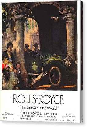 Rolls-royce 1917 1910s Uk  Cars Canvas Print by The Advertising Archives