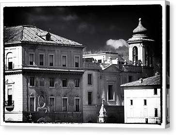 Roma Roof Tops Canvas Print by John Rizzuto