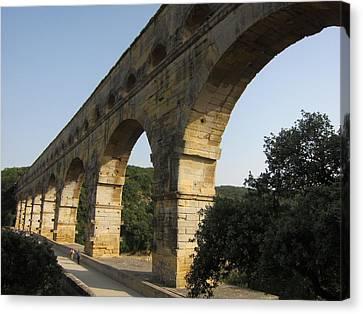 Roman Aqueduct Canvas Print by Pema Hou