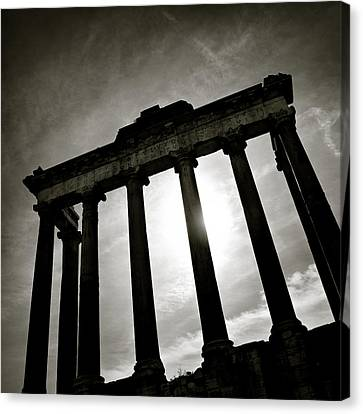 Roman Forum Canvas Print by Dave Bowman