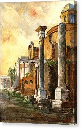 Roman Forum Canvas Print by Juan  Bosco