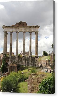 Roman Forum Canvas Print by Nancy Ingersoll