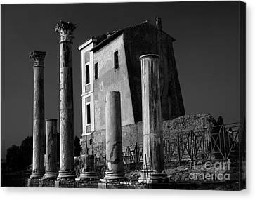 Roman Ruin At Palatine Hill Canvas Print by Julian Cook
