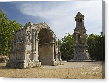 Roman Ruins, France Canvas Print by John Shaw