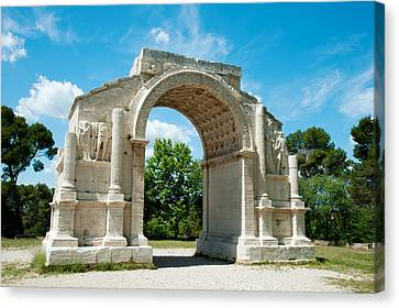 Roman Triumphal Arch At Glanum Canvas Print by Panoramic Images