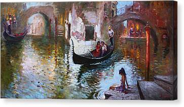 Romance In Venice 2013 Canvas Print by Ylli Haruni