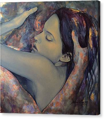 Romance With A Chimera Canvas Print by Dorina  Costras