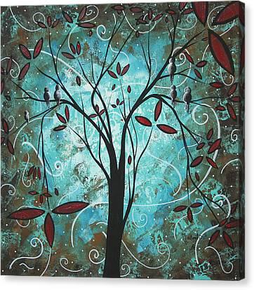 Romantic Evening By Madart Canvas Print by Megan Duncanson