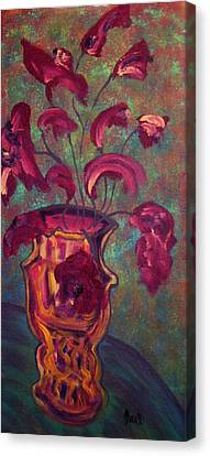 Romantic Vase  Canvas Print by Oscar Penalber