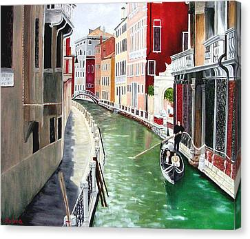 Romantic Venice Canvas Print by Zelma Hensel