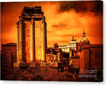 Rome Burning Canvas Print by Prints of Italy