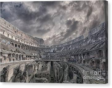 Rome Colosseum Interior 03 Canvas Print by Antony McAulay